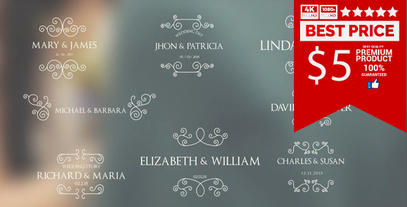 8 Wedding Titles V4 After Effects Template