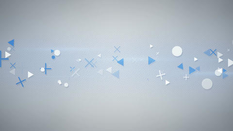 Abstract geometric elemets seamless loop background Animation