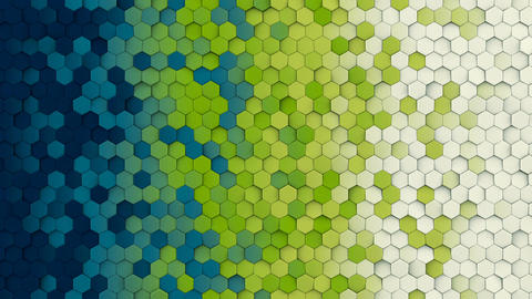 Colorful hexagon pattern seamless loop abstract 3D animation Animation