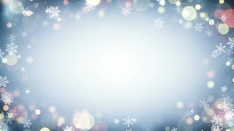 Border frame with snowflakes and stars seamless loop Animation