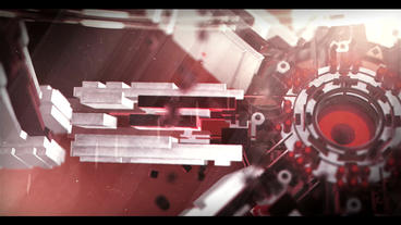 3D Sci Fi Logo (Red) After Effects Template