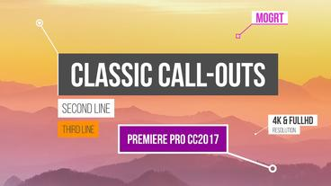 Classic Call-Outs Motion Graphics Template