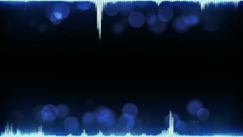 Blue audio waveform and free space loopable background Animation