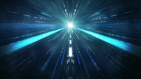 Fly in space motion blurred rays abstract loopable background Animation