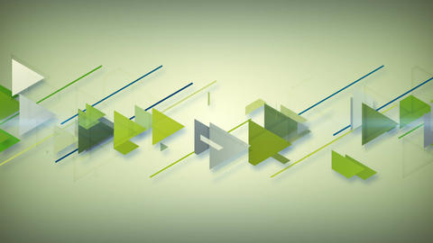 Green triangles abstract geometric background Animation