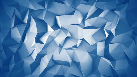 Blue low poly 3D surface seamless loop animation Animation