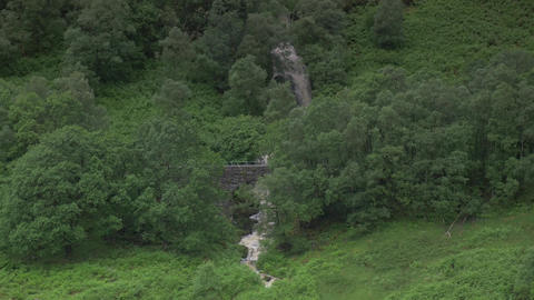 Waterfall At Ardchullarie More, Scotland Footage