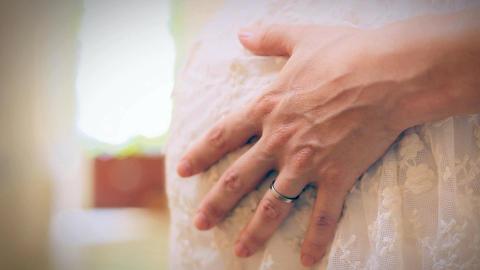 Pregnant Woman, Close Shot Footage