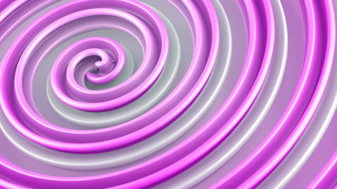 Pink twisted 3D shape spinning seamless loop animation Animation