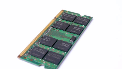Dimm ram memory rotations in notebook Footage