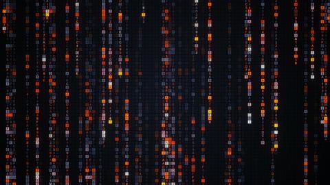 Orange matrix rain of digital HEX code loopable animation Animation