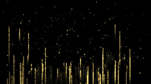 Luxury Golden Particles Background Loop Animation