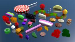 ASSORTED LOLLIES 3D Model