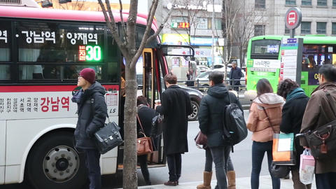 Seoul Gangnam Station Footage