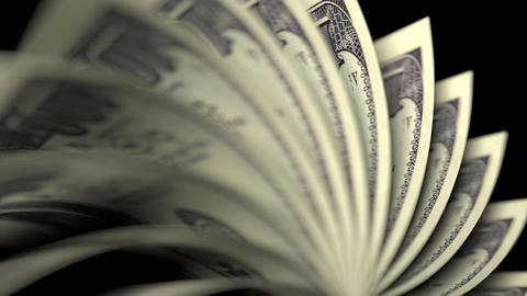 Flipping US hundred dollar bills Footage