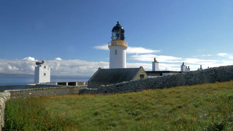 Lighthouse At John O' Groats, North Of Scotland Footage