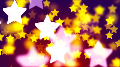 Falling colorful stars HD 1080 loop Animation
