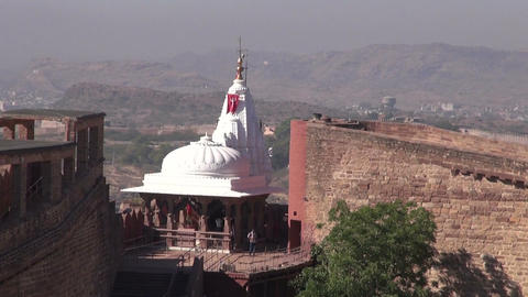 Chamunda Mataji hindu Temple on Mehrangarh fort, Jodhpur, Rajasthan, India Footage