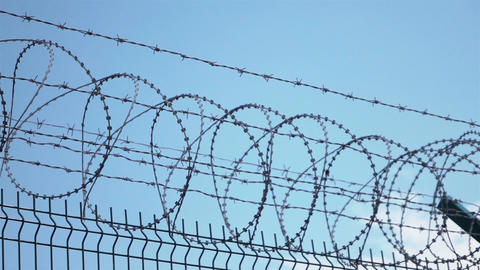 Video of barbed wire in 4K Archivo