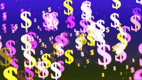 HD Loopable Background with nice flying dollars Animation