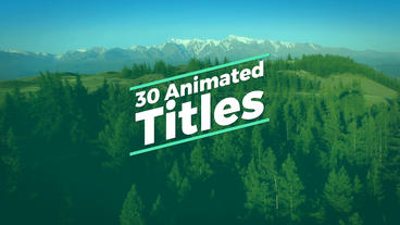 30 Animated Titles After Effects Template