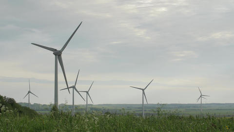 Clean and Renewable Energy, Wind Power, Turbine, Windmill, Energy Production Footage