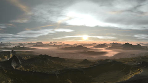 Beautiful Sunset in the Mountains Animation