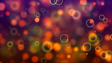 Multicolor circle bokeh. Computer generated seamless loop abstract background Animation