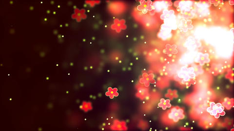 Valentine's day abstract background, flying flowers Animation