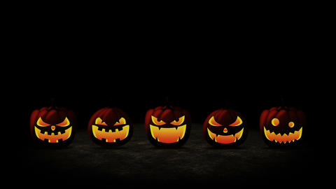 Halloween pumpkin head jack lantern, Loop, Stock Animation