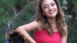Young Hispanic Woman Talking Live Action