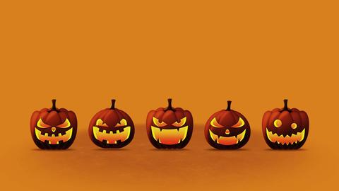 Halloween pumpkin head jack lantern, Loop Animation