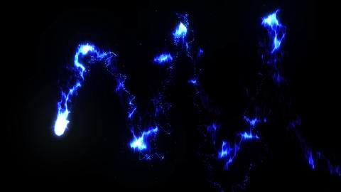 Burning Fire Flames with Sparks, Blue Animación
