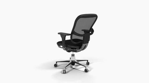 Office chair,loop, animation, Alpha channel, transparent background ,3d Animation