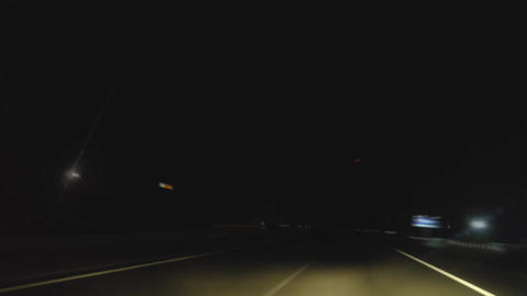Freeway driving at night Footage