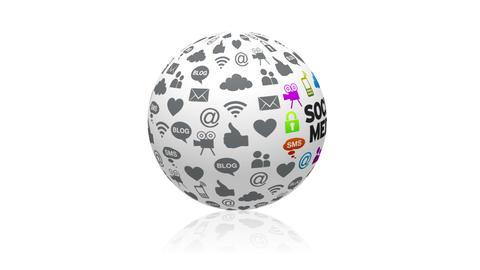 Social Media Sphere Animation