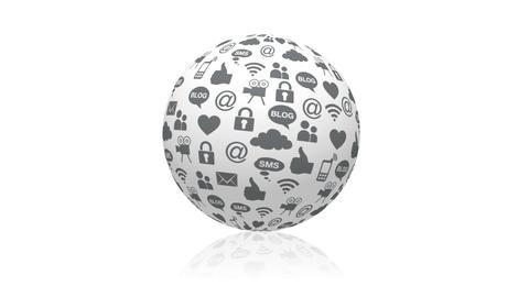 Social Media Sphere Stock Video Footage