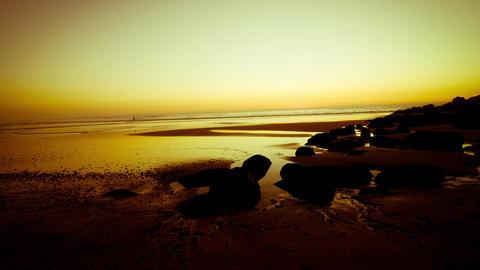 Timelapse Sunset on the beach Footage