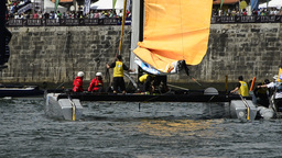 SAP Extreme Sailing Team compete in the Extreme Sailing Series Live Action