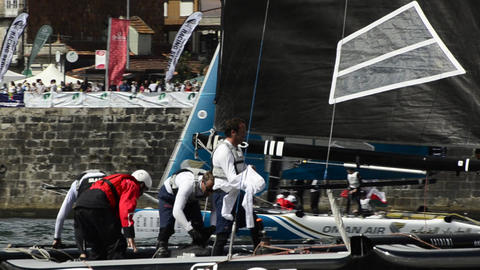 ZouLou compete in the Extreme Sailing Series Stock Video Footage