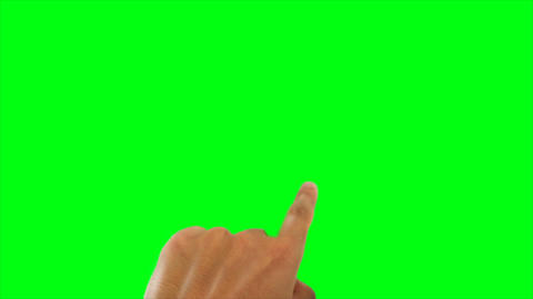 Green screen hand animation Stock Video Footage