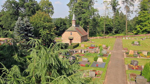 Old historic cemetery in Germany Stock Video Footage