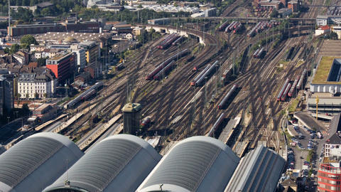 Time lapse of frankfurter central station Stock Video Footage