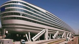 The Squaire building in Frankfurt Germany Footage
