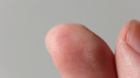 Blood drop from a finger Stock Video Footage