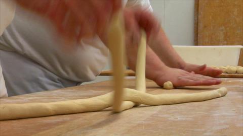 10737 german bakery 2 bread plait braid challah Stock Video Footage
