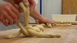 10737 german bakery 2 bread plait braid challah Footage