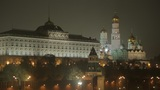 night Kremlin Embankment Footage