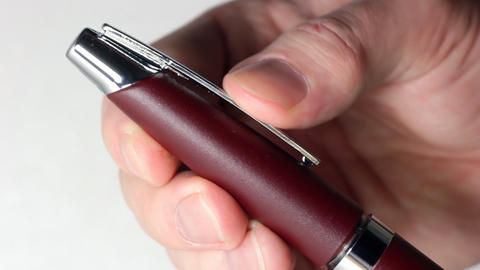 Hand recap pen Stock Video Footage