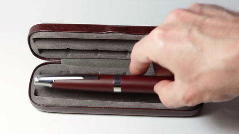 Take out an insulin pen Stock Video Footage